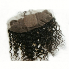 Curly Silk Frontal 13x4 Virgin Hair Silk Base Frontal Curly Lace Frontal Closure With Baby Hair