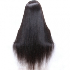 Silk Straight 13x6 Lace Front Wig Pre Plucked Deep Part Virgin Hair Lace Wig For Black Women