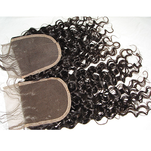 5x5 Curly Lace Closure Bleached Knots Virgin Human Hair Culry Hair Closure Piece