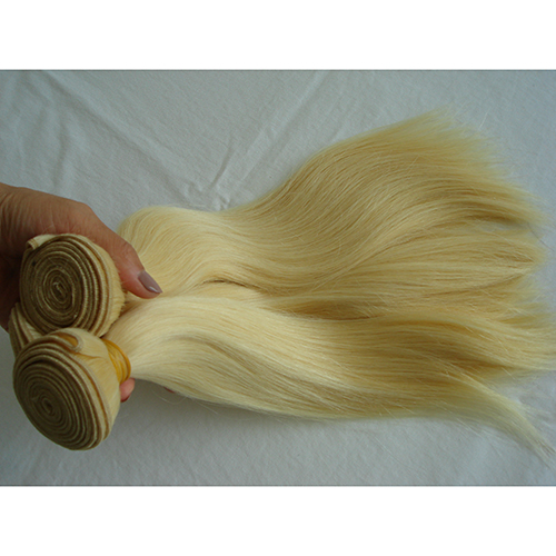 Straight Blonde Hair Bundles Virgin Human Hair Weaving 3PCS Lot 613 Human Hair