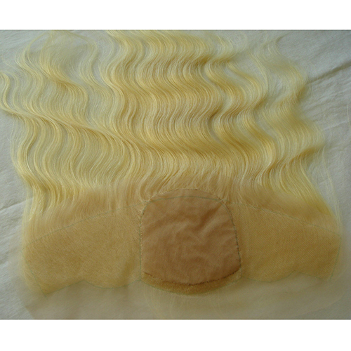 Blonde Lace Frontal Ear To Ear Silk Frontal Closure Human Hair Silk Frontal With Baby Hair