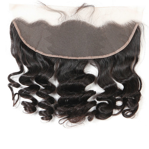 Loose Wave 13X4 Lace Frontal Closure With Baby Hair Ear To Ear Lace Frontal Bleached Knots