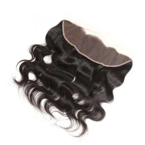 Body Wave 13X4 Lace Frontal Closure With Baby Hair Ear To Ear Lace Frontal Bleached Knots