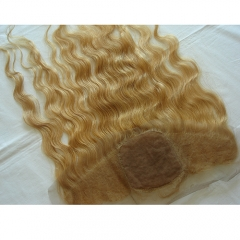 Honey Blonde Lace Fronal Body Wave Silk Lace Frontal Closure With Baby Hair