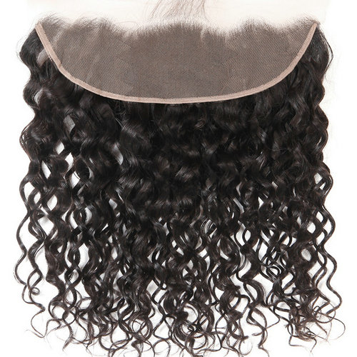 Water Wave 13x4 Ear to Ear pre plucked Lace Frontal Closure With Baby Hair 100% Human Hair