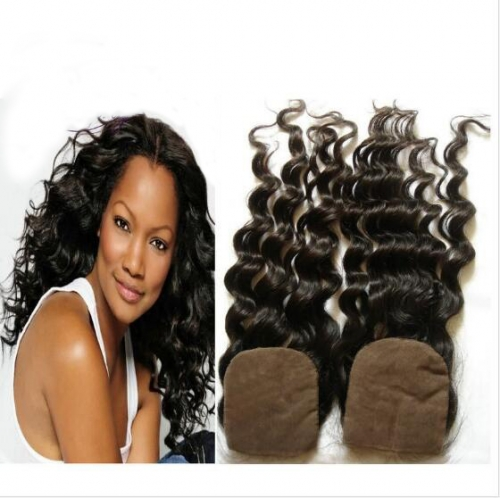 3.5x4 Loose Curly Silk Base Closure Virgin Hair Silk Base Lace Front Closure