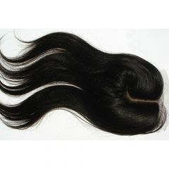 Fashionable J Part 4x4 Silk Closure Straight Virgin Hair Closure Silk Base
