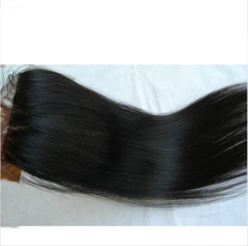 Straight Virgin Hair Silk Closure 3.5x4 With Hidden Knots Silk Lace Closure
