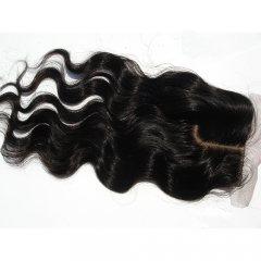 J Part Silk Lace Closure With Baby Hair Body Wave Silk Closure Virgin Hair Closure Piece