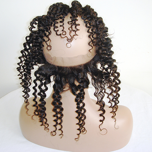 Pre Plucked 360 Lace Frontal Kinky Curly 360 Lace Band Frontal With Baby Hair