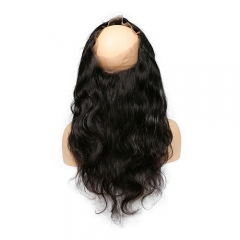 Pre Plucked 360 Lace Frontal Closure Body Wave 360 Lace Band Frontal Virgin Human Hair Frontal Piece