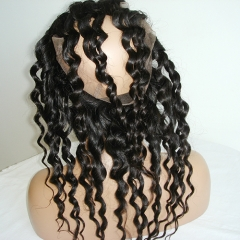 Loose Curly 360 Lace Frontal Pre Plucked 360 Lace Frontal With Baby Hair