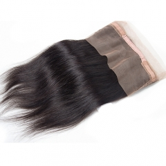 Straight 360 Lace Frontal Virgin Human Hair Straight 360 Lace Band Pre Plucked Hairline