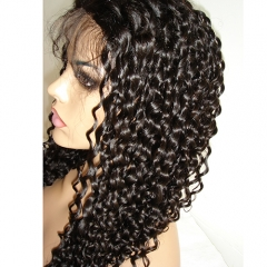 Kinky Curly Human Hair Lace Wig For Black Women Pre Plucked Hair Wigs