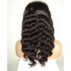 Loose Deep Wave Full Lace Wig Virgin Hair Lace Wig For Black Women Pre Plucked Hair Wigs
