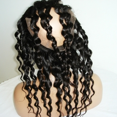 Loose Curly 360 Silk Lace Frontal With Baby Hair 360 Lace Frontal Closure Bleached Knots