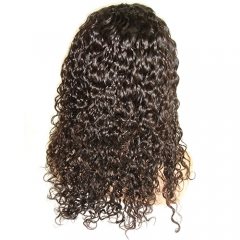 Peruvian Water Wave Full Lace Wig Pre Plucked Lace Wig With Natural Hairline