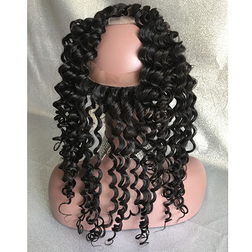 Curly 360 Lace Frontal Virgin Hair 360 Lace Frontal Closure Pre Plucked