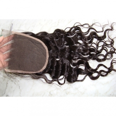 5X5 Natural Curly Lace Closure Virgin Hair Curly Lace Closure