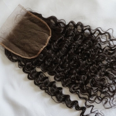 Curly 6x6 Lace Closure Virgin Lace Front Hair Closure Bleached Knots