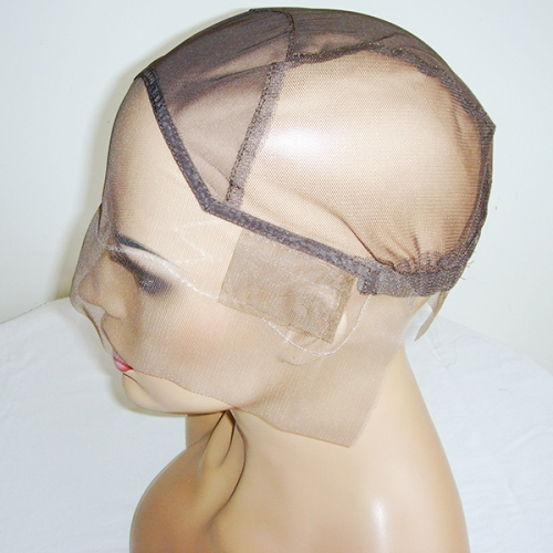 Lace Front Wig Cap For Wig Making Weave Elastic Hair Net Mesh Straps Adjustable