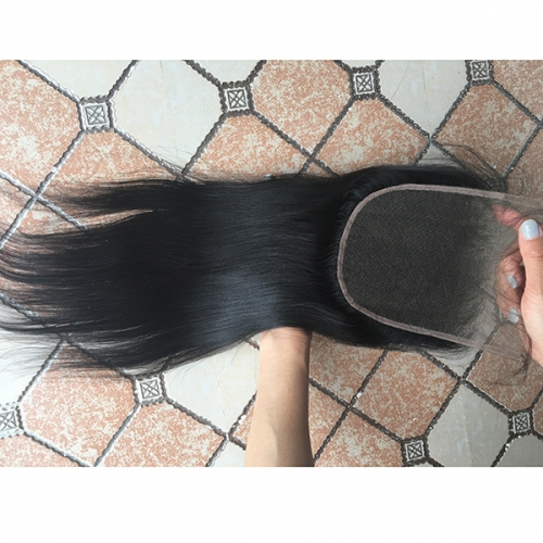 7x7 Straight Lace Closure Pre Pluck Hairline Virgin Hair Lace Front Closure With Baby Hair