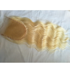 Body Wave 613 Lace Closure 5x5  Virgin Hair Blonde Lace Front Closure Pre Plucked