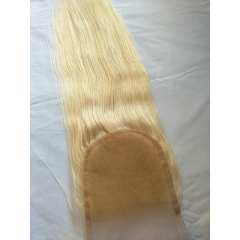 Blonde Lace Closure 5x5 Virgin Human Hair 613 Lace closure Straight Blonde Hair Closure