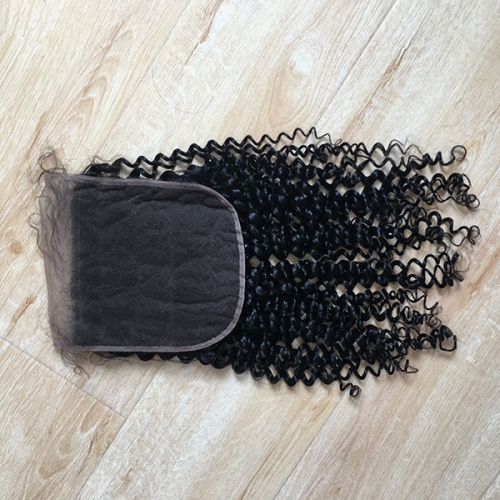 Kinky Curly 7x7 Lace Closure Pre Plucked Human Hair Lace Closure With Baby Hair