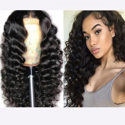 150% Density Loose Wave Wig Pre Plucked Lace Front Human Hair Wigs With Baby Hair Remy Glueless Lace Front Wig Bleached Knots