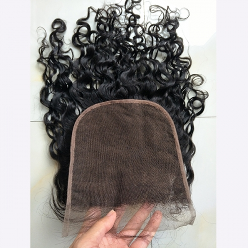 Curly 7x7 Lace Closure Virgin Human Hair Closure Pre Plucked