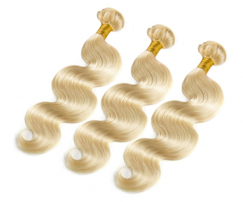Blonde Human Hair Bundles 3pcs/Lot 613 Body Wave Human Hair Weave 613 Virgin Hair Extensions