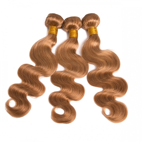 Honey Blonde Hair Bundle Deals Brazilian Body Wave Human Hair Weave Bundles #27 Hair Extensions 3pcs/Lot