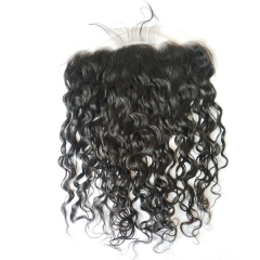 13x6 Curly Lace Frontal With Baby Hair Pre Plucked Natural Hairline 13x6 Lace Frontal Closure