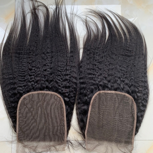 Kinky Straight 7x7 Lace Closure Pre Plucked Lace Closure With Baby Hair Closure Piece 7x7