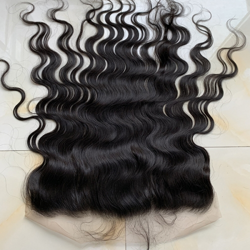 Natural Wave Transparent Lace 13x4 Lace Frontal With Baby Hair Virgin Hair Lace Frontal Closure Bleached Knots