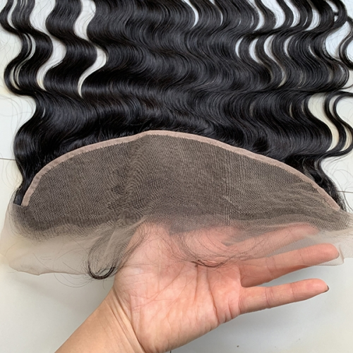 Transparent Lace 13x4 Lace Frontal With Baby Hair Virgin Hair Lace Frontal Closure Bleached Knots