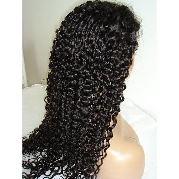 Pineapple Wave Lace Front Wig With Baby Hair Virgin Human