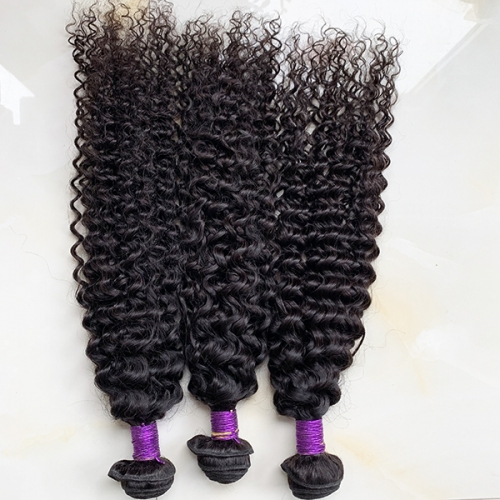 Brazilian Water Wave Hair Bundles 3pcs Human Hair Weaving Weft Wavy Hair Extensions