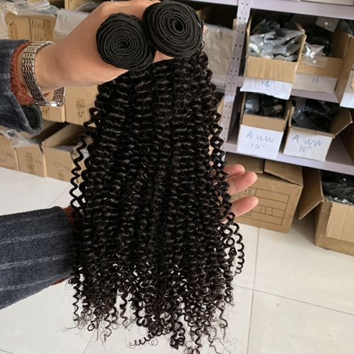 3pcs/Lot Jerry Curly Hair Bundles Peruvian Virgin Human Hair Weaving Culry Human Hair Weft