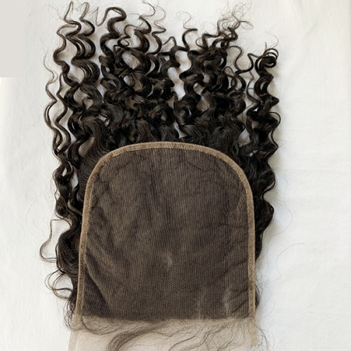 Water Wave Lace Closure 7x7 Peruvian Virgin Hair Closure Pre Plucked With Baby Hair
