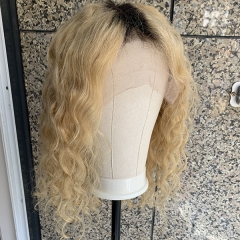 Loose Wave Blonde 13x6 Bob Wig Blonde Lace Front Wig Pre Plucked BLonde Lace Wig With Baby Hair
