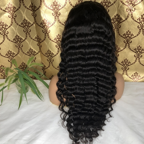 HD Lace Frontal Closure Wig 13x4 Deep Wave Lace Front Wig 13x4 HD Lace Frontal Wig Pre Plucked
