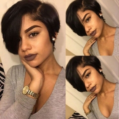 8Inch Short Pixie Cut Lace Front Human Hair Wigs For Women 180% Pre Plucked 13X6 Lace Front Wigs Pixie Bob