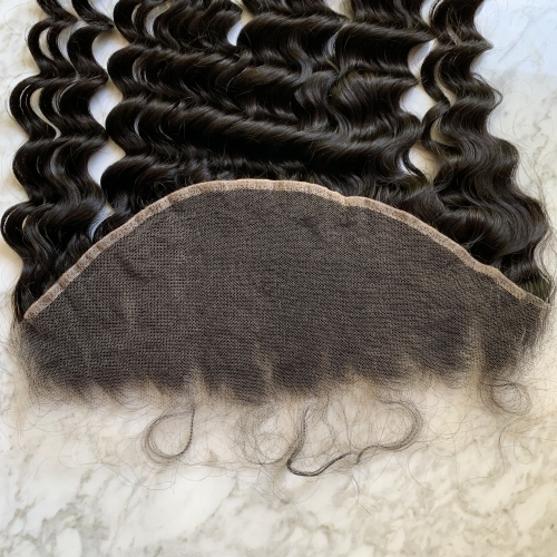 Loose Deep Wave HD 13x6 Lace Fronta Closure Virgin Brazilian Hair  Lace Frontal HD Lace Hair