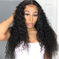 Deep Wave Full Lace Wig With Baby Hair Wavy Hair Wig For Black Woman