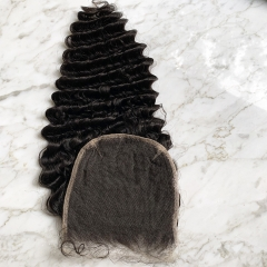Deep Wave HD Lace Closure 6x6 Virgin Human Hair Lace Closure Pre Plucked