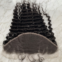 13X6 Deep Wave HD Lace Frontal Virgin Human Hair HD lace Hair Frontal Closure