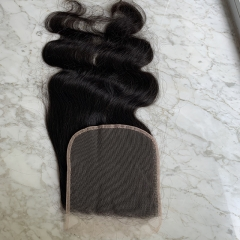 Body Wave 6x6 Transparent Lace Clousre Pre Plucked Natural Hairline Virgin Human Hair Closure