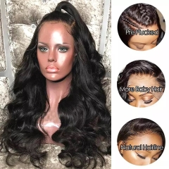 Transparent Lace 360 Lace Wig Virgin Human Hair 360 Wig Pre Plucked Natural Hairline Lace Wig